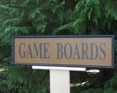 Primitive Game Board Sign Folk Art