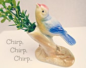 Vintage Royal Copely Bird Bud Vase - Bluebird of Happiness