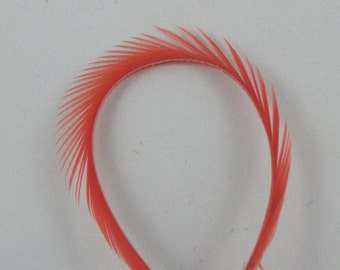 Feathers Goose Biots 4 Dyed Hendrickson red pink feathers  GBD-40 craft feathers fly tying feathers