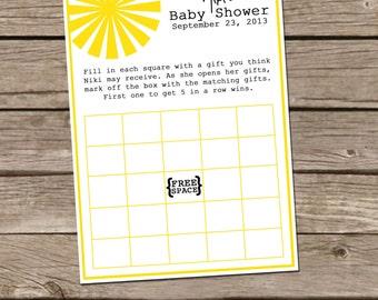 You Are My Sunshine - Baby Bingo