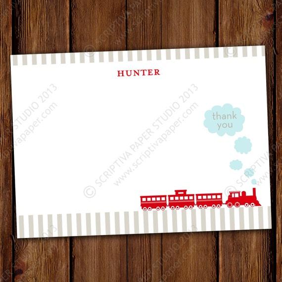 Boy Train Thank You Notes - Choo Choo Train