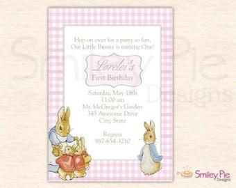 Peter Rabbit Birthday Invitation