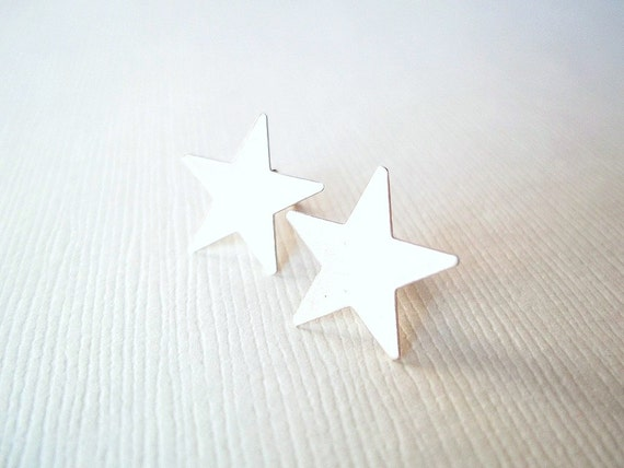 Silver Earrings. Star Earrings. Small Silver Stud Earrings.