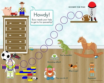 Instant Download, PRINTABLEChild Behavior Incentive Chart - It's a Toy's Story