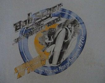 BOB SEGER 1978 tour T SHIRT