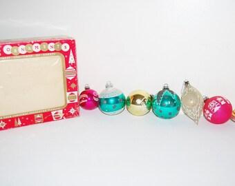 Vintage Holiday Ornaments Atomic Seven
