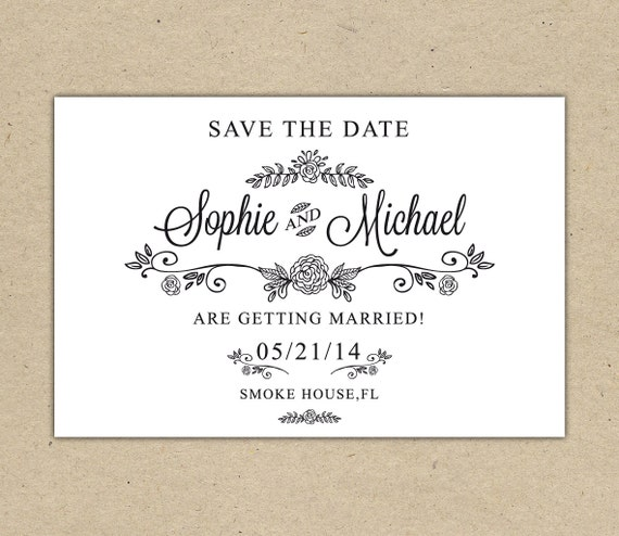 Unavailable listing on etsy for Save the date printable