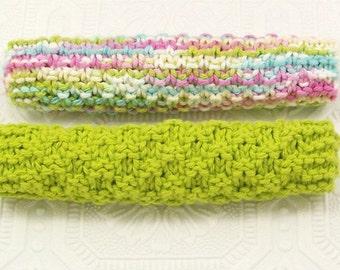 Hand knit cotton dishcloth - washcloth - dish rag - spa cloth - kitchen or bath - Sandy Coastal Designs - ready to ship