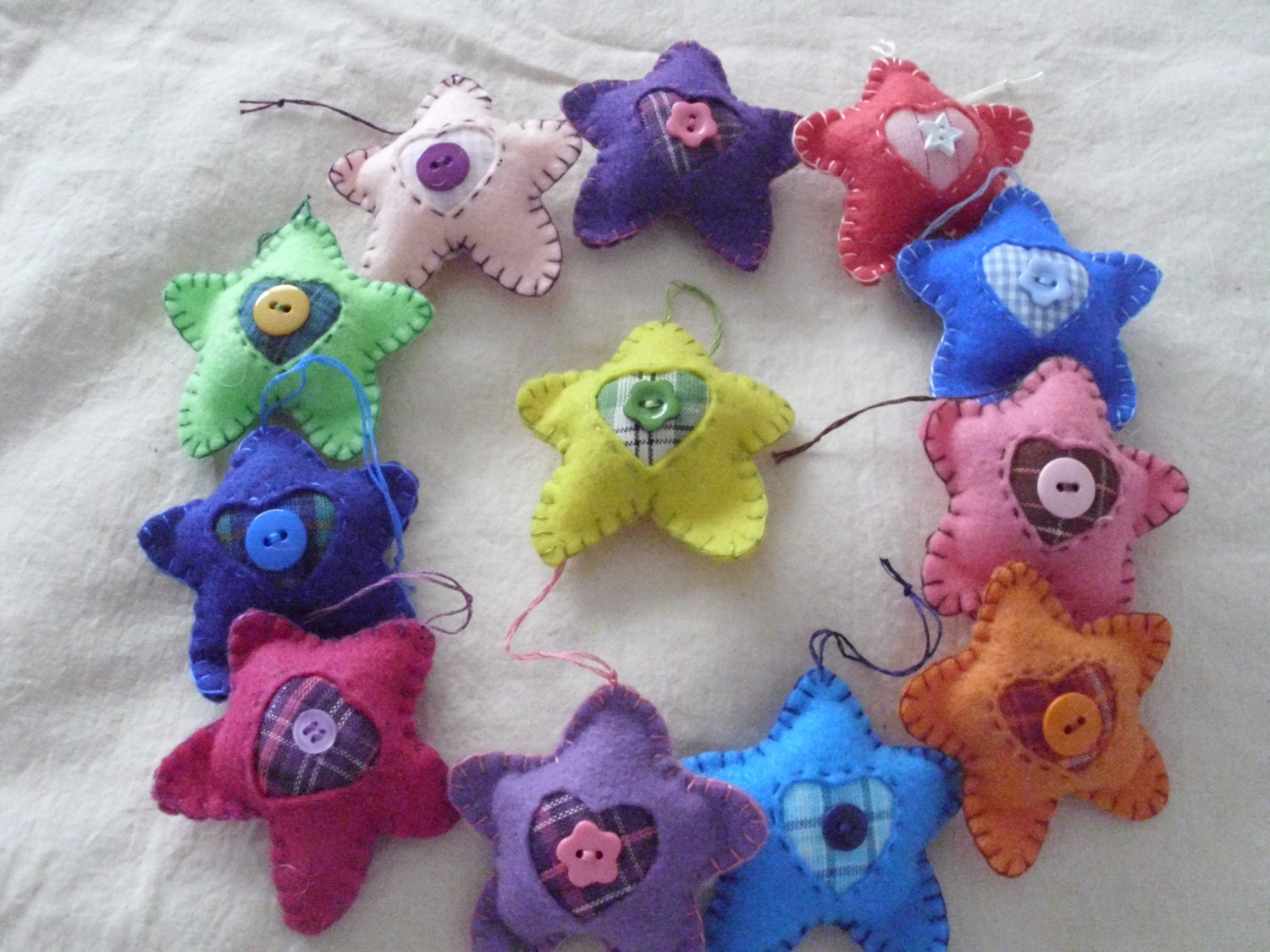 Christmas Tree Star Ornaments Non By Mommawhazelsquilts On