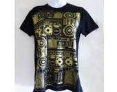 1981 Gold Techno T-Shirt , designed by Heritage