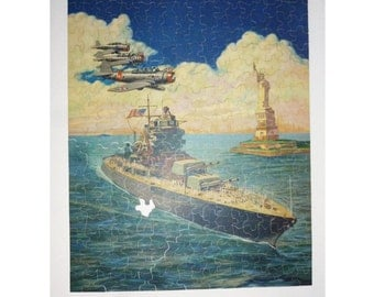 """1941 Perfect Picture Puzzle """"Design For Victory"""" No. P-50"""