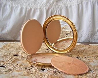 Vintage Powder Compact Coty Vanity Cosmetics Compact Mirror Blue Dot Airspun Face Powder 1980s