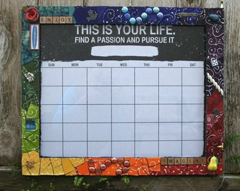 Beautiful Mosaic Framed Calendar, dry erase calendar