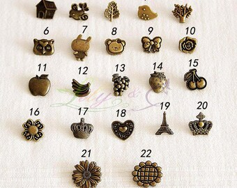 2 Sets Metal Style Snap Buttons - Bronze