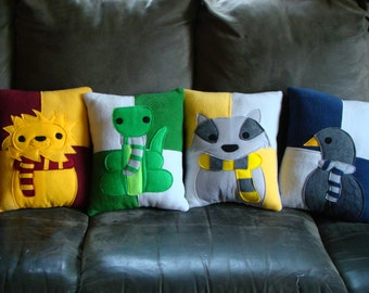 Wizard house mascot pillows