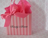 Victoria's secret inspired party favor bags in pink for any occasion