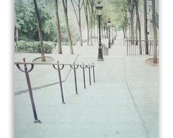 Paris Photography, Paris decor, Paris Wall Art, Paris photo Montmartre, cream, green decor, Paris photography - Fine Art Photograph