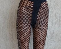 Vintage Black 70s Fishnets, size S-M