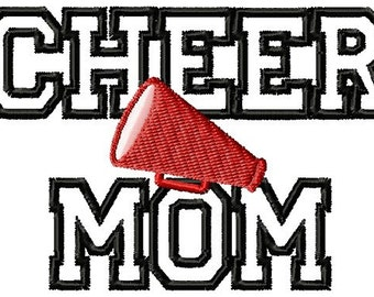 Instant Download Cheer Mom - APPLIQUE - Machine embroidery design - Digitized Design - Custom Embroidery