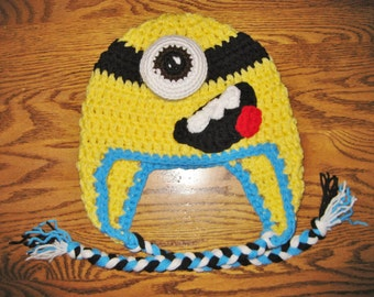 READY TO SHIP, Minion Inspired Hat
