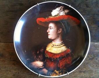 Vintage English Rembrandts first wife Saskia Display Dinner Plate circa 1960's / English Shop