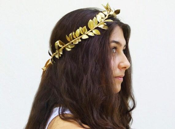 Reserved for Jana - Gold Leaf Crown, Greek Goddess, Gold Leaf Tiara. Gold Leaf Headband, Goddess, Greek Headpiece, Gold Leaf Crown