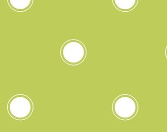 1 Yard Fashion Plate Green Polka Dot by Barbara Jones of QuiltSoup for Henry Glass