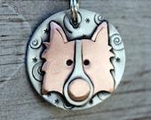 Custom Dog Tag - Dog ID Tag - Pet Tag - Dog Tags Custom-Border Collie - breed tag or key chain