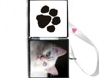 """Cat 1"""" Locket,  Pet Keepsake/Paw Print Locket """"Awesome.Patti gives the best customer service.I highly recommend her!"""" FREE SHIPPING Us"""