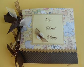 Baby scrapbook album pre made Moms brag book Grandmas brag book pre made baby gift