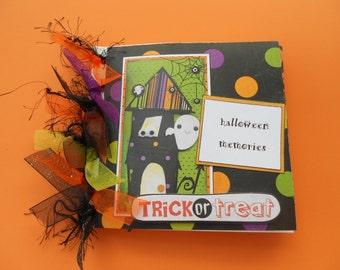 Halloween memories scrapbook album pre made 6 by 6