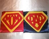 Supermom or Superdad large, adult cape