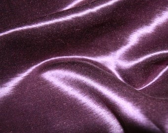 Hempsilk Purple Satin Cloth Hemp Silk Charmeuse Material Fabric Plum 2yds Fabric Machine Washable Home Craft Royal Grape Amethyst