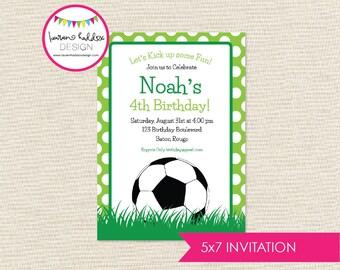 DIY, Soccer Party INVITATION