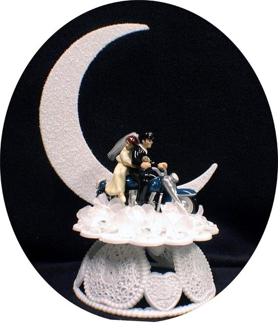 Harley Davidson 56 Wedding Cake Topper Motorcycle Bike Bike