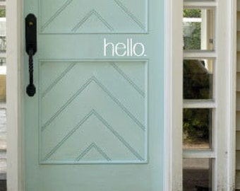 hello Vinyl Door Decal- You Choose Color