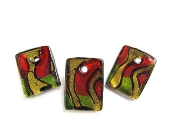 3 Art Glass Pendants