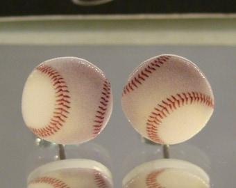 Baseball Stud Earrings - surgical steel