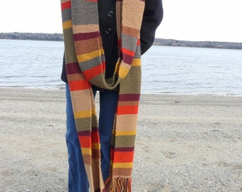 Closing Sale!  Season 16 Doctor Who  Scarf - 100% Wool - 17 feet long!