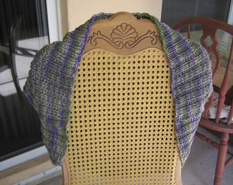 Cotton Purple Petunia Handknit Bolero Vest Shrug