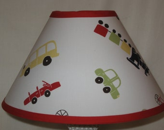 Backseat Driver Vehicles Fabric Lamp Shade M2M Pottery Barn Kids