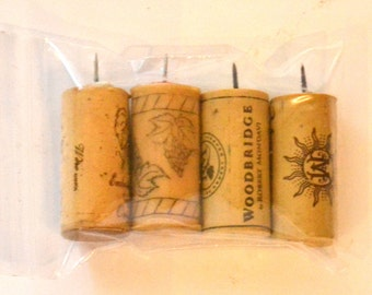 As seen on the Today Show 10/23/14 Wine Cork Push Pins set of 4