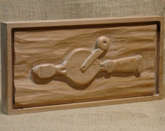 Wood Relief Carving, Hand Drill aka -- egg beater: Tools of the Trade