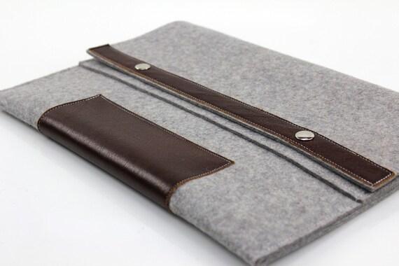 MacBook Pro 15 inch Pro Laptop Sleeve 15 inch MacBook Case Apple MacBook Pro 15 Case- light grey wool felt colonial style