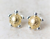 Sea Turtle Earrings / Choose your color / gold and silver