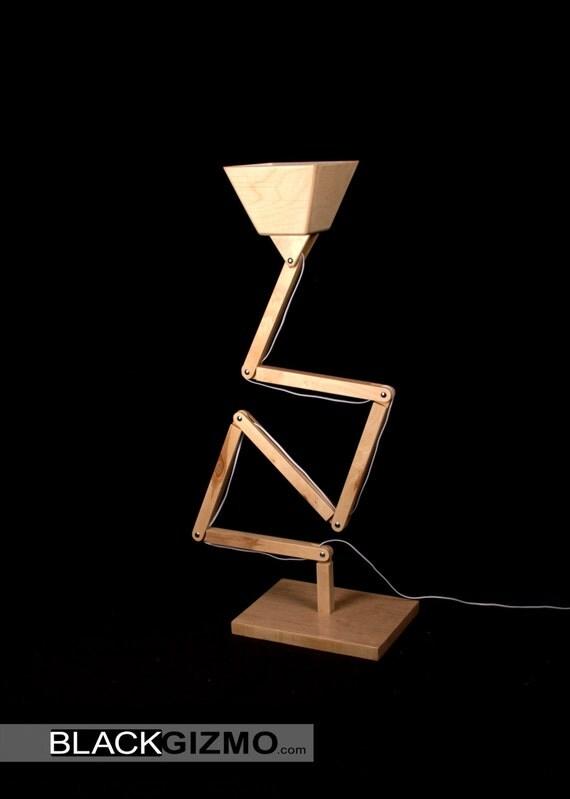 Wooden floor lamp dl022 blackgizmo for Wooden floor lamp etsy