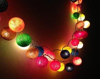 20 Bulbs Carnival Night Light cotton ball string lights for Patio,Wedding,Party and Decoration