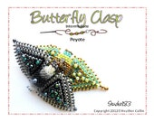 Beading Pattern Peyote Stitch Snap on Detachable Clasp Tutorial BUTTERFLY CLASP