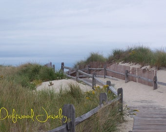 Cape Cod Dunes 5x7 Ivory Matted Print, Landscapes, Natural Beach Scene, Nautical Photography