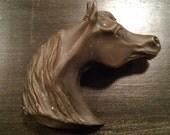 Artist Signed Brass/Bronze Horse Head